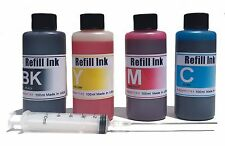 400ml Bulk Refill Ink for HP Epson Canon Brother inkjet printer 4 color +syringe