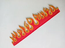 Flame Blazing Fire Iron on Patch Badge