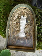 Ancien reliquaire statuette Marie , Pain Sacre , st J de Sales , Ste Chantal