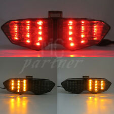 Smoke Integrated LED Tail Light Signals For Yamaha YZF R6 2003 2004 2005