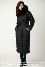 ~ Long Goose Down Coat Jacket Parka Пуховик w/ Fox Fur sz M  US 8 EU 44 $895 NWT