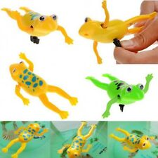 3Pcs Hot Bathing Toy Clockwork Wind Up Plastic Swimming Pool Frog For Baby Kids