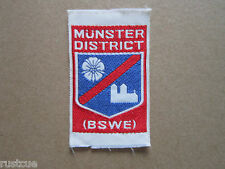 Munster District BSWE Woven Cloth Patch Badge Boy Scouts Scouting