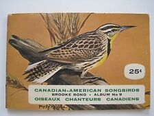 1965 BROOKE BOND Album No 9 CANADIAN-AMERICAN SONGBIRDS 46 of 48 Cards