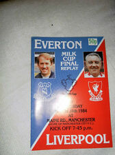 1984 LEAGUE CUP FINAL REPLAY EVERTON V LIVERPOOL
