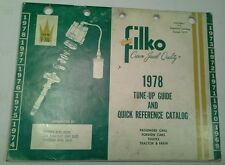 1978 TUNE-UP GUIDE AND QUICK PREFRENCE CATALOG FILKO CROWN JEWEL QUALITY