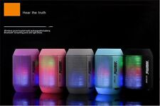 Portable PULSE LED Light Stereo Wireless Bluetooth Loud Speaker W/ FM for Party