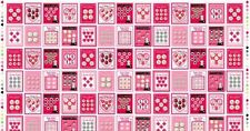 CLEARANCE! Pre-cut Cotton Fabric Panel Lake House Pam Kitty Love Buttons