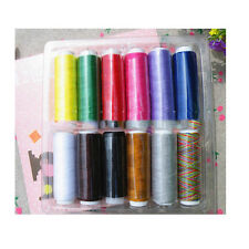 12 Colors 200M Spools Cotton Blends Sewing Machine Thread Reel Cord String sx
