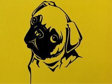Pug Dog Animals Wall Art  Vinyl Sticker Wall Decal  Transfersl Home Love Dogs