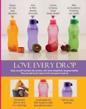 Tupperware Water Bottles- 310ml (Set Of-4) Eco Aquasafe New Color FREE SHIPPING