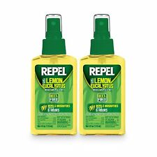 2-PACK Repel Lemon Eucalyptus Natural Insect Mosquito Repellent 4oz, Pump Spray
