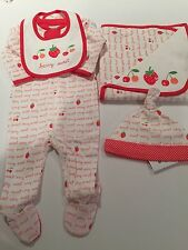 NWT Gymboree Berry Sweet Baby Girl's Newborn Essentials 4 Pc Set Layette NB 0 Mo