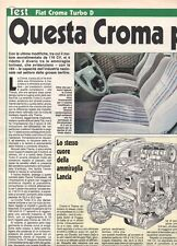 SP20 Clipping-Ritaglio 1989 Fiat Croma Turbo D