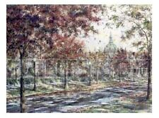 """Susan Amidon """" Autumn On Laurel Avenue """"  S/N # 21 of only 950  $350 Value  Rare"""