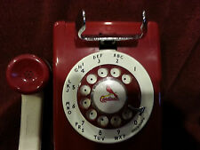 Western Electric Vintage Red White  Rotary Dial Wall Telephone 554 Restored