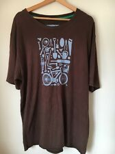 "Boden Brown With Blue Print Size XL 50"" cotton t-shirt  T5880"