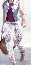 ZARA lookbook 2013 Panna Floreale Baggy Pantaloni Taglia XS