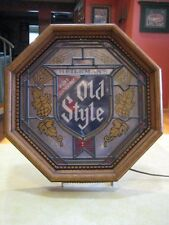 "HEILEMAN'S PURE GENUINE OLD STYLE Vintage Octagonal Lighted Beer Sign (16""x 16"")"