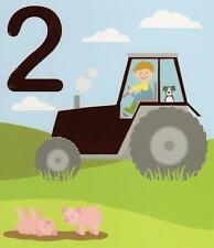 2 Today Happy 2nd Birthday Tractor Greeting Card Special Age Greetings Cards