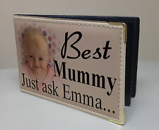 Personalised faux leather photo album, memory book, Mummy birthday baby gift