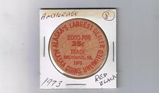 Alaska Wooden Nickel Token - ANCHORAGE - Alaska Coins Unlimited 1973