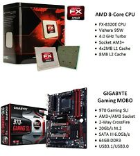 GIGABYTE 970 Gaming Motherboard  +  AMD FX-8320E 8-Core 4.0GHz Turbo CPU Combo