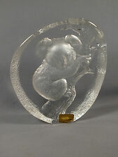 Mats Jonasson Lead Crystal KOALA BEAR - Signed M J Sweden