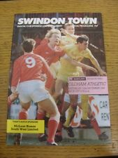 10/12/1988 Swindon Town v Oldham Athletic  . Item appears to be in good conditio
