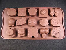 Christmas Santa Claus Snowman Silicone Mold Tray Ice cube Candle Chocolate Mold