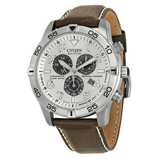 Citizen Perpetual Calendar Eco-Drive Chronograph Silver Mens Watch BL5470-06A