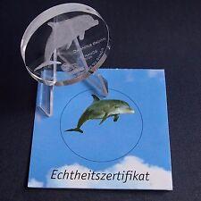 Glasmünze Kongo 10 Francs 2004 Delphin Glas Gedenkmünze + Zfk