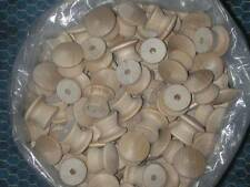 """12 ROUND 1"""" WOOD KNOBS *NEW* Unfinished Birch Pulls Cabinet Handles with screws"""