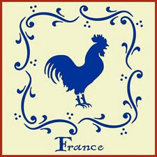 FRENCH ROOSTER STENCIL - FRANCE - The Artful Stencil