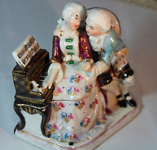 ORIGINAL STAFFORSHIRE c1800's VICTORIAN porcelain INKWELL or INK STAND
