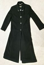 St. John  Coat Collection By Marie Gray Women's Black Cashmere Long Coat Size 6