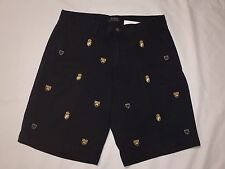 NWT- POLO RALPH LAUREN MEN'S EMBROIDED CLASSIC FIT CHINO SHORTS-NAVY BLUE-35