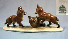 Seltene Fuchsgruppe figur von Rosenthal fuchs porzellanfigur füchse fox