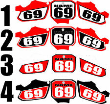 2003-2008 Honda CR85 CR 85 Number Plates Side Panels Graphics Decal