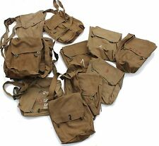 VINTAGE 1950's / 60''s CZECH ARMY CANVAS GAS MASK BAG SHOULDER BAG