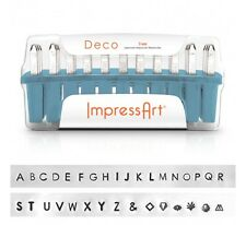 ImpressArt Deco Letter Metal Stamps, Uppercase, 3mm- Jewelry Stamping