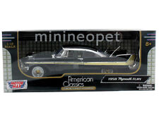 MOTORMAX AMERICAN CLASSICS 1958 58 PLYMOUTH FURY 1/18 DIECAST BLACK