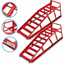 HEAVY DUTY 2 TON PORTABLE CAR VAN MECHANIC WORKSHOP GARAGE WIDE RAMP RAMPS PAIR