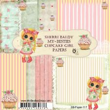 "NEW My-Besties SCRAPBOOK PAPER PACK SET 6 X 6""  free us ship CUPCAKE GIRL"