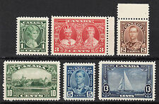Canada KGV Silver Jubilee, Scott 211-216, VF MNH, catalogue - $60