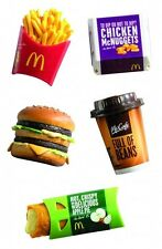 NEW MCDONALDS MINI FOOD COFFEE FRIES MCNUGGETS BIG MAC APPLE PIE MAGNET TOYS