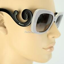 PRADA Baroque Minimal Square Black Gray Sunglasses Authentic