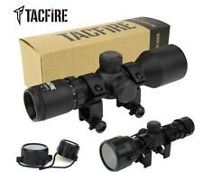 TacFire Compact 3-9X42 Mil-Dot Reticle Rifle Scope with Rings & Lens Covers
