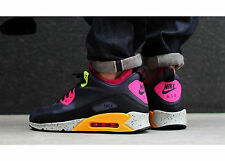 NIKE AIR MAX 90 SNEAKERBOOT NS 616314-008 GRIDIRON-BLACK-PINK-VOLT Size 11