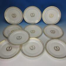 Sevres Porcelain Chateau de St Cloud Louis Phillipe 10 Gold Decorated Plates